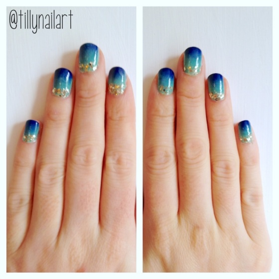 Ombre Seaside Nails