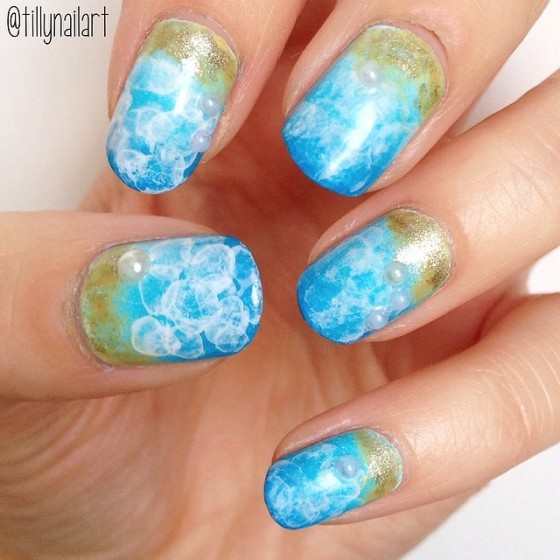 Bubble sea nails