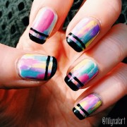 Pastel Brushstrokes Nails