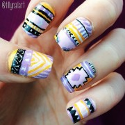 Tribal Nails purple