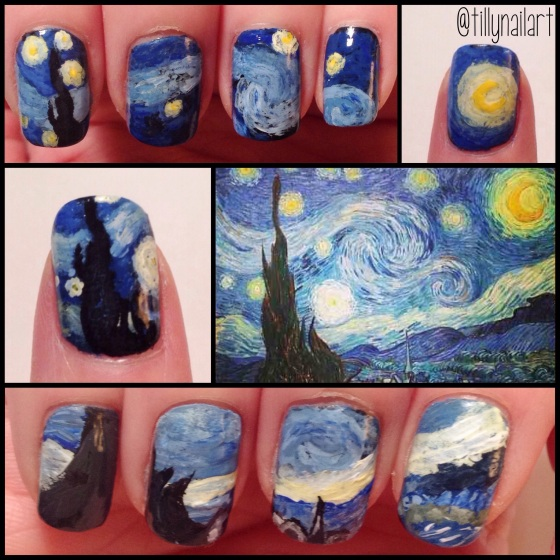 Van Gogh Starry Nigh Nails