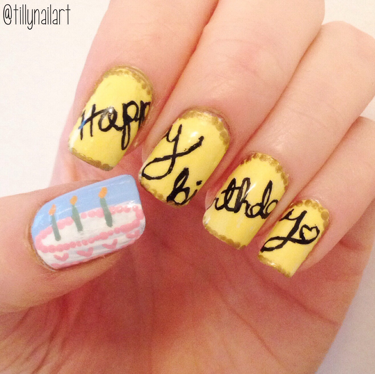 Happy Birthday To Me Tillynailart