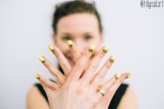 Yellow Crown Nails
