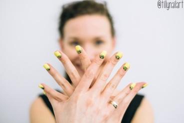 Yellow Crown Nails