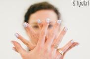 Double Chevron Gradient Nails
